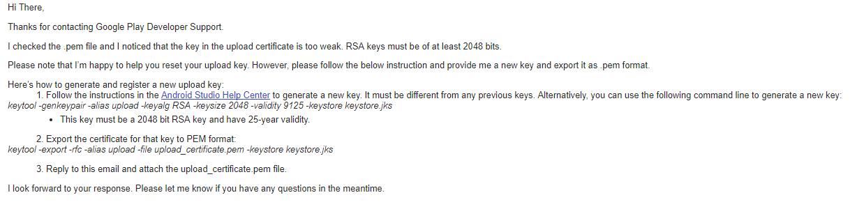 rsa key generator android