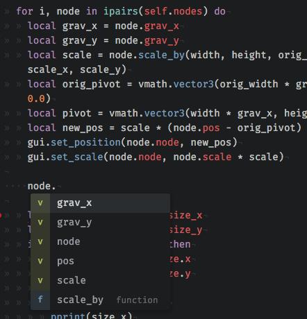 Lua autocomplete for Atom - The Defoldmine - Defold game
