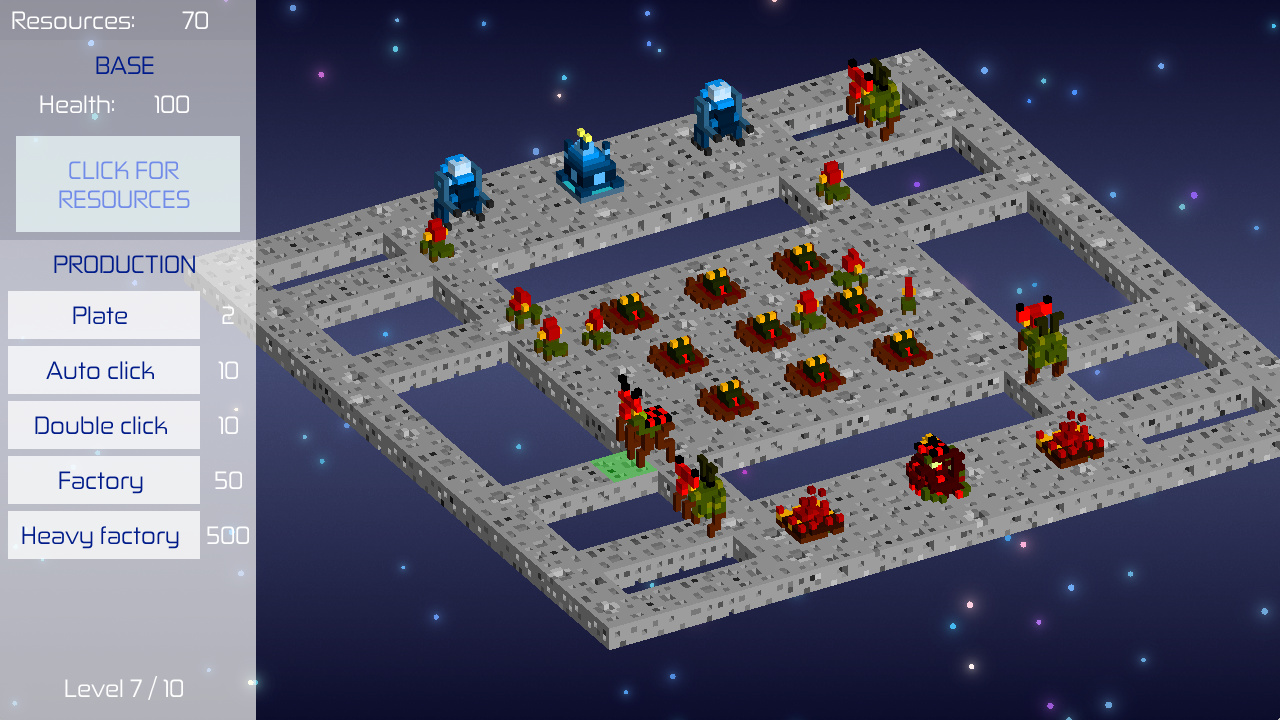 StarClick - RTS & Clicker for LudumDare 41 - Showcases - Defold game