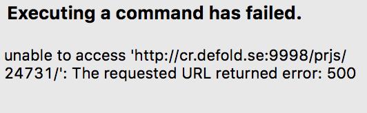 Looks like a regression: custom git client error 500 (SOLVED
